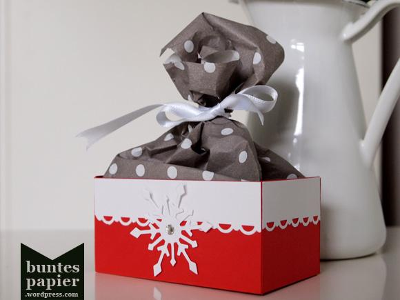 Advents- oder Nikolausbox für kleine Geschenke - Detail